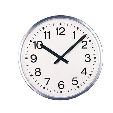 E.A Combs 6423 Large Commercial Metal-Cased Wall Clock