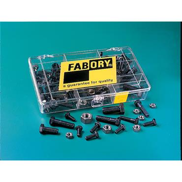 FABORY Hexagon Bolt, Screw & Nut 126 Piece Steel Set