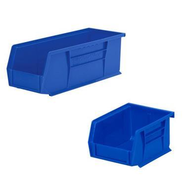 Akro-Mils Blue Storage Bins and Clear Lid