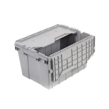 Akro-Mils Attached Lid Container - Grey