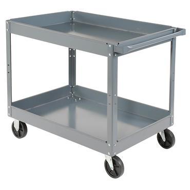 Edsal SC 2016 2-Shelf Grey Steel Service Cart