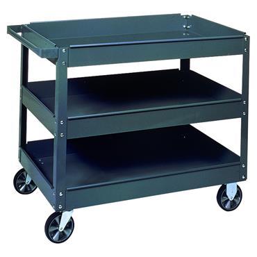 Edsal SC-3020 3-Shelf Grey Commercial Service Cart