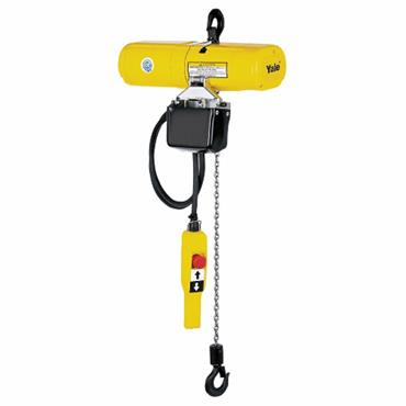 Yale Electric Chain Hoists with Chain Bags