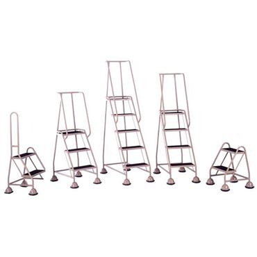 CITEC Assorted Mobile Steps w/Spring Loaded Castors