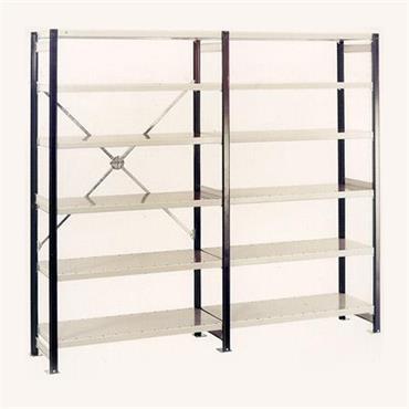 MOORSECURE ''Euro-Shelving'' Multi Purpose Shelving System - Open Bay 6 Shelves