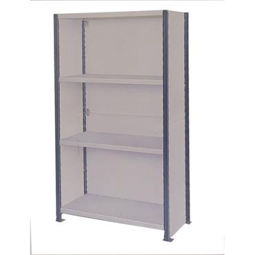 MORESECURE ''Euro-Shelving'' Multi Purpose Shelving System - Clad Bay 6 Shelves