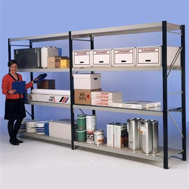 MORESECURE Longspan Heavy Duty, Wide Bay Shelving - Plywood - 750mm deep