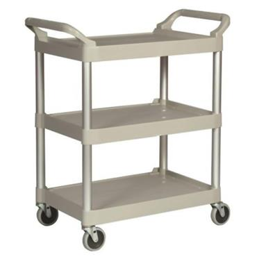 Rubbermaid 3424-88 3-Shelf Off White Utility Cart