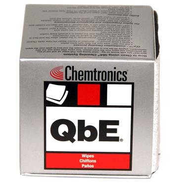 Chemtronics QbE 200 Piece Fibre Optic Cleaning Wipes