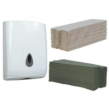 PETER GRANT PAPER C-Fold Single Ply Hand Towels & Dispensers
