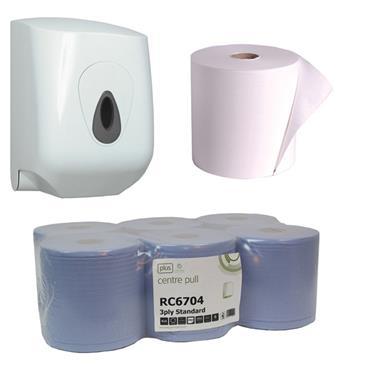 PETER GRANT PAPERS Centrepull Rolls  & Dispenser