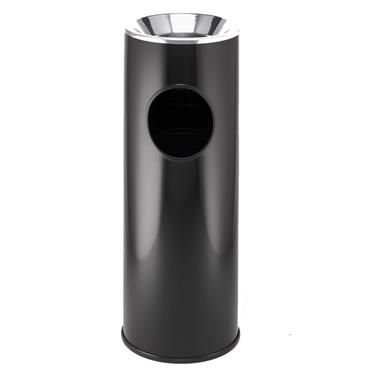 RUBBERMAID FG1100EBK Steel Waste Containers