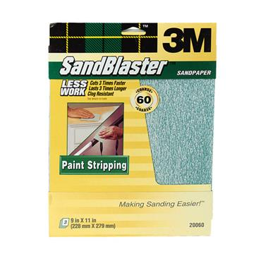 3M SandBlaster™ Bare  Surfaces Sandpaper