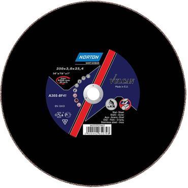 Norton 350 x 3mm Vulcan Steel Cutting Disc for Chop Saw - 66252925462