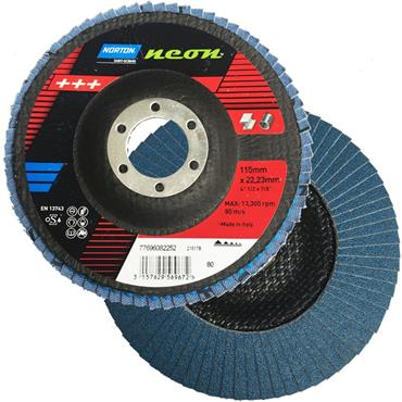 Norton 115mm Fibre Glass Flap Discs