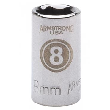 Armstrong Metric 6 Point Standard 1/4'' Drive Socket