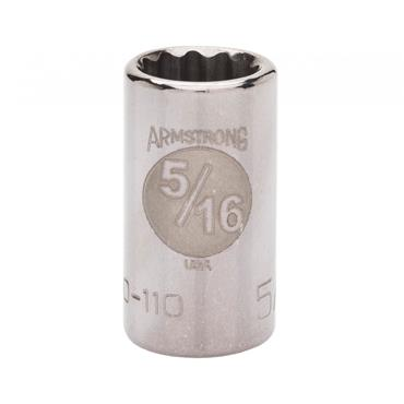 Armstrong 1/4 Drive 12 Point Standard Socket