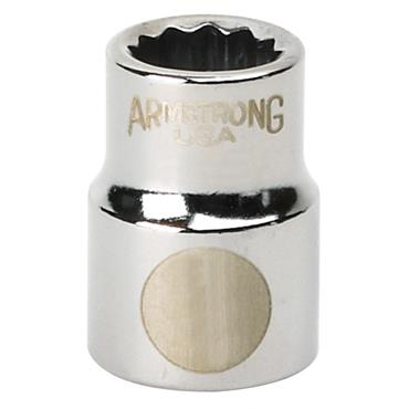 Armstrong 3/8'' 6 Point Drive Socket - Imperial