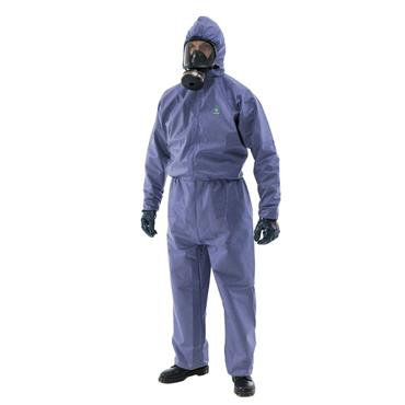 KIMBERLY CLARK 9664 Chemical Splash Hooded Coveralls - Blue