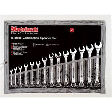 Metrinch MET 0125 14 Piece Metric Combination Spanner Set
