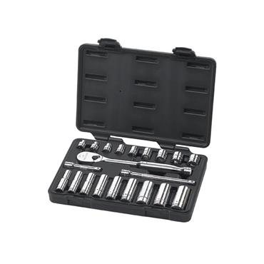 "Gearwrench 80557 21 Piece Imperial 3/8"" Drive Socket Set"