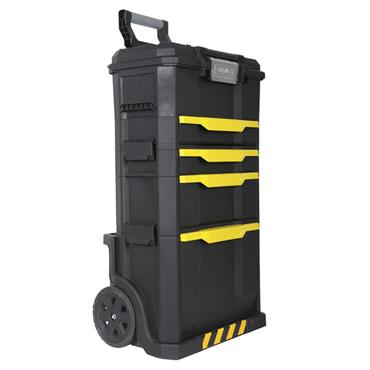 Stanley 866 x 348 x 488mm Modular Rolling Workshop with Tool Box and Drawer - 1-79-206
