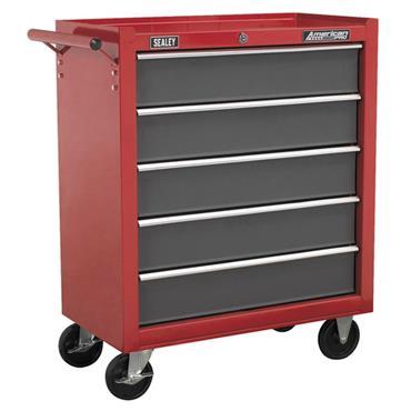 Sealey AP22505BB 5-Drawer Red/Grey Rollcab Cabinet