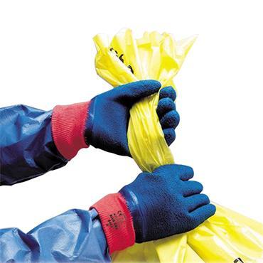 Polyco 8403 Blue Grip Men Work Gloves Cotton Full Crinkle Latex Coating (Case of 48)