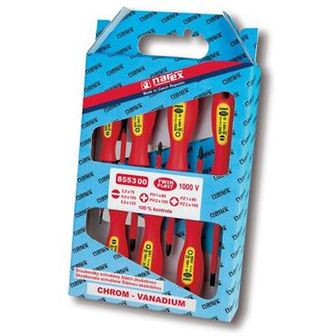 Narex 8553 00 7 Piece Mixed Insulated Screwdriver Set