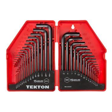 Tekton 25253 30 Piece Imperial/Metric Hex Key Wrench Set