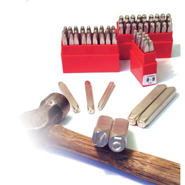 Pryor Steel Hand Stamps Figure and Letter Punch Set