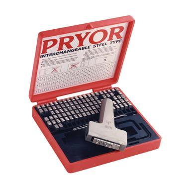 Pryor TPFH  Alphanumeric Steel Type Marking Set