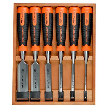 Bahco 434-S6-EUR 6 Piece Bevel Edge Chisel Set