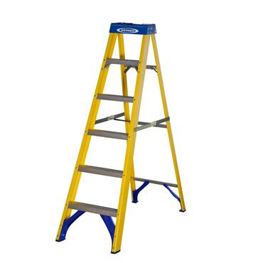 Werner 7160618 Stepladder Fibreglass 6 Tread Trade