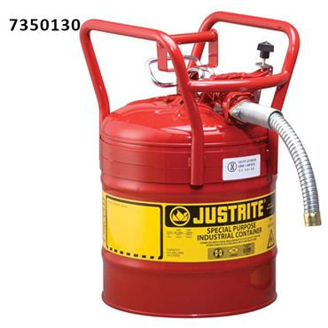 Justrite 7350 19 Litre AccuFlow Type II D.O.T. Steel Safety Can