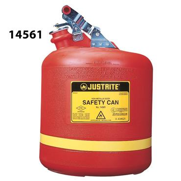 Justrite Non-Metallic Stainless Steel Hardware Type I Safety Cans