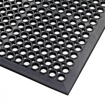 NO TRAX  Sanitop Floor Safety / Anti-Fatigue Matting - Wet Area, Black