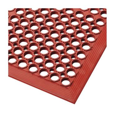NO TRAX Sanitop Floor Safety / Anti-Fatigue Matting - Wet Area, Red