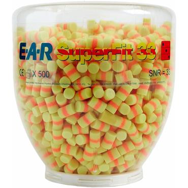 3M PD-01-007 E-A-R Superfit Refill Earplugs Bottle - 500 Pairs