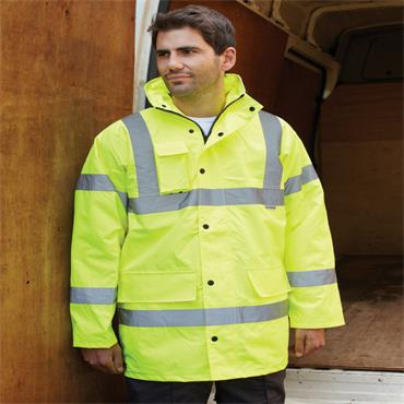Dickies SA22045 High-Visibility Motorway Safety Jacket - Yellow