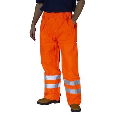 CITEC TEN High-Visibility Waterproof Trousers - Orange