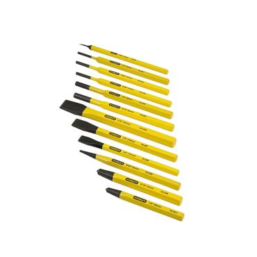 Stanley 4-18-299 12 Piece Pin Punch and Chisel Set