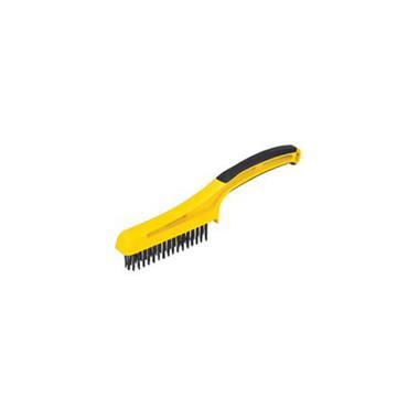 "HYDE 46802 3/4"" x 4-3/4"" Scrub Brush w/1-1/4"" Stiff Wire Bristles"