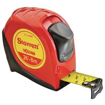 Starrett KTX1-26ME-N 8m Exact Metric/Imperial Pocket Measuring Tape