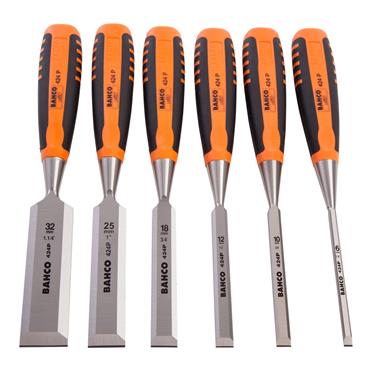 Bahco 424P-S6-EUR 6 Piece Bevel Edge Chisel Set
