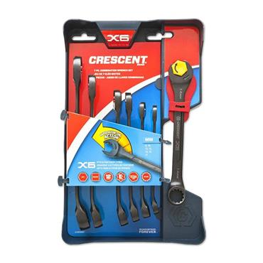 Crescent CX6RWM7 7 Piece Metric Combination Ratchet Wrench Set