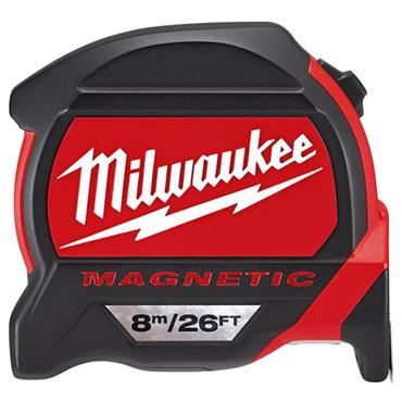 Milwaukee 48227225 8m Premium Magnetic Metric/Imperial Measuring Tape