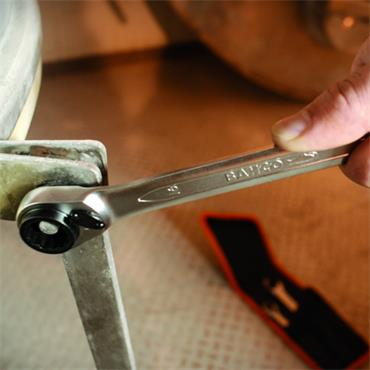Bahco S4RM/4T 4 Piece Metric Reversible Ratchet Spanner Set