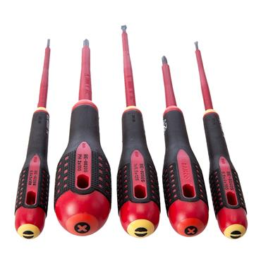 Bahco 9881S Mixed 5 Piece Insulated Ergo Screwdriver Set