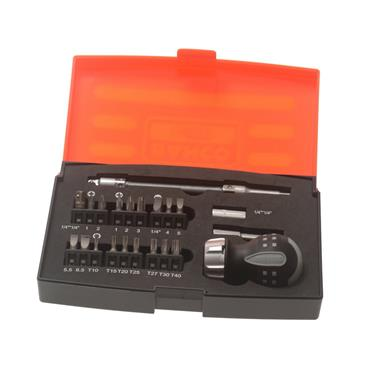 Bahco 808050S-22 22 Piece Stubby Ratcheting Screwdriver Set